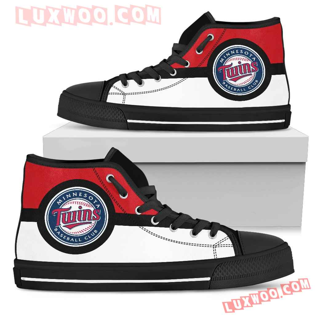 Bright Colours Open Sections Great Logo Minnesota Twins High Top Shoes