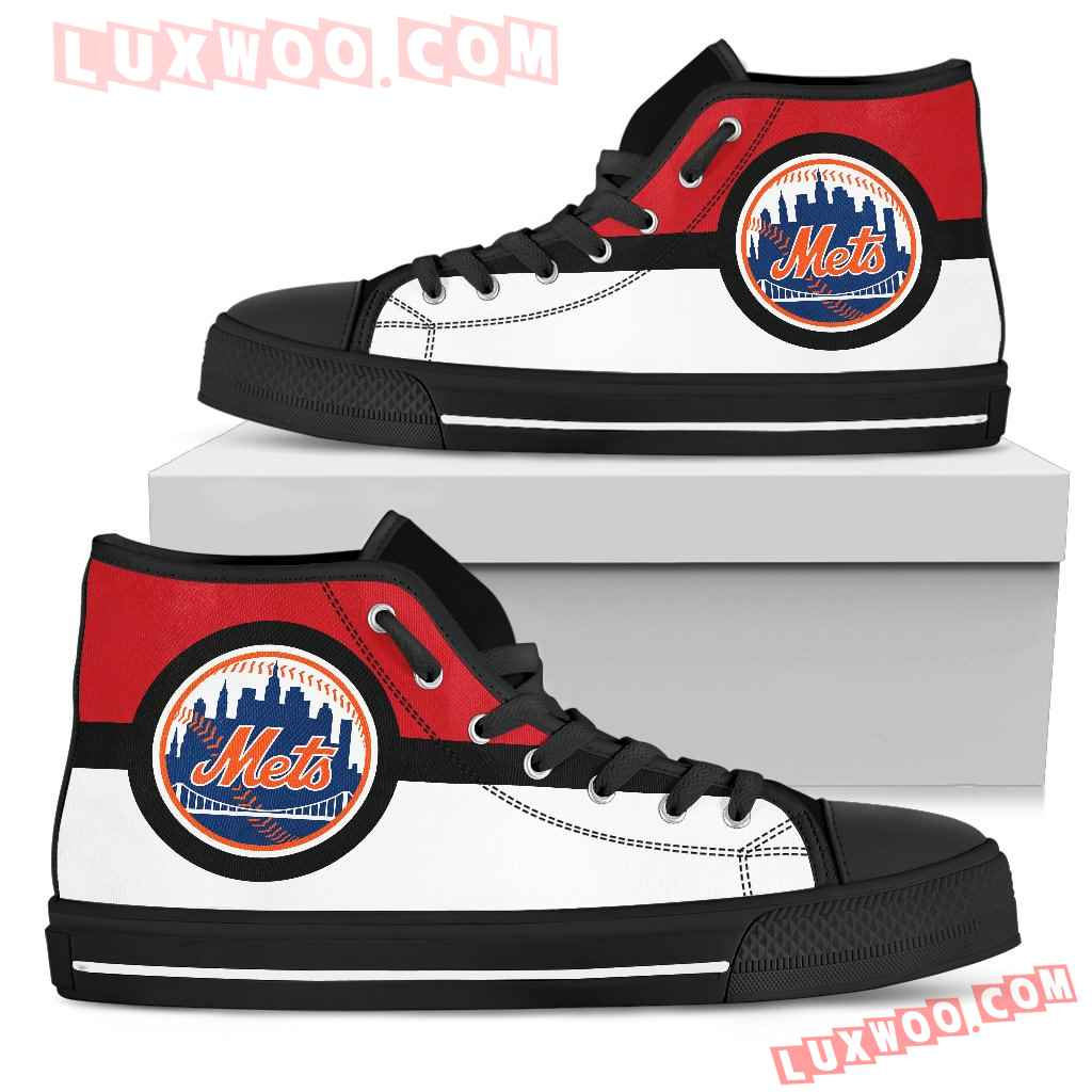Bright Colours Open Sections Great Logo New York Mets High Top Shoes
