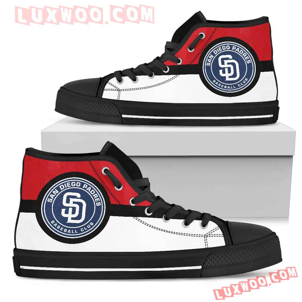 Bright Colours Open Sections Great Logo San Diego Padres High Top Shoes