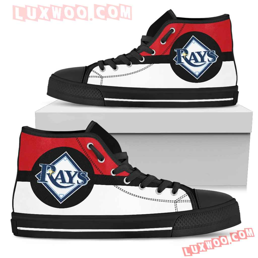 Bright Colours Open Sections Great Logo Tampa Bay Rays High Top Shoes