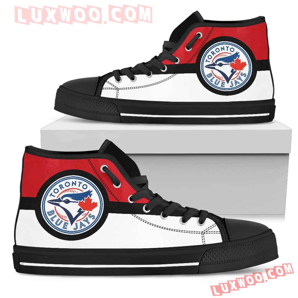 Bright Colours Open Sections Great Logo Toronto Blue Jays High Top Shoes