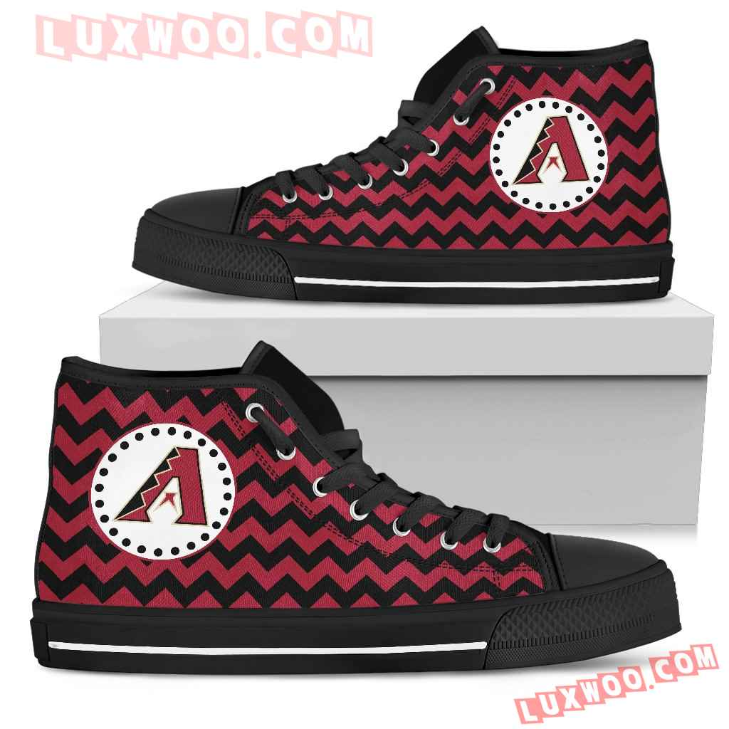 Chevron Broncos Arizona Diamondbacks High Top Shoes