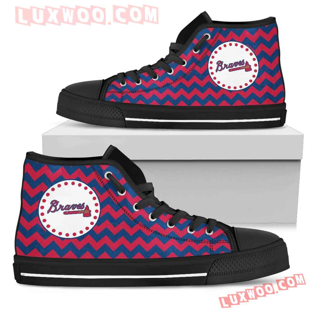 Chevron Broncos Atlanta Braves High Top Shoes