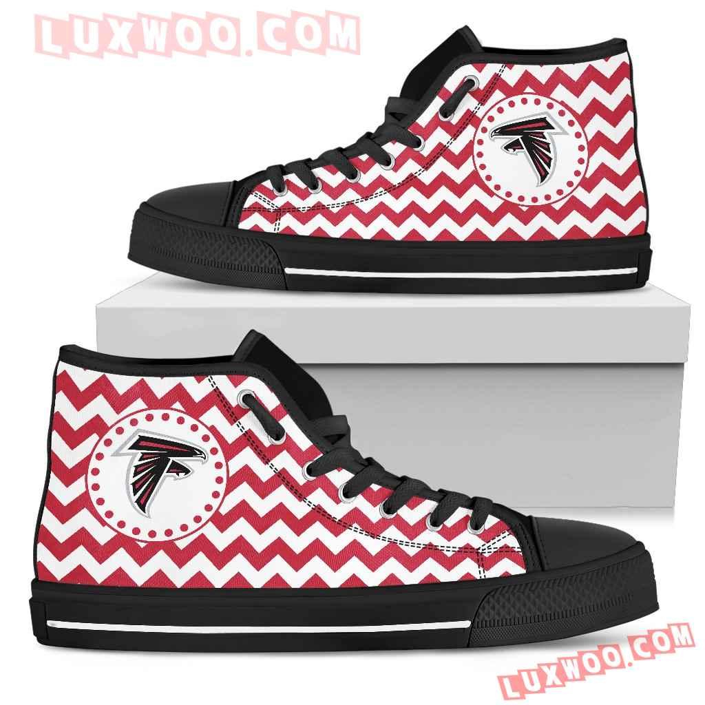 Chevron Broncos Atlanta Falcons High Top Shoes