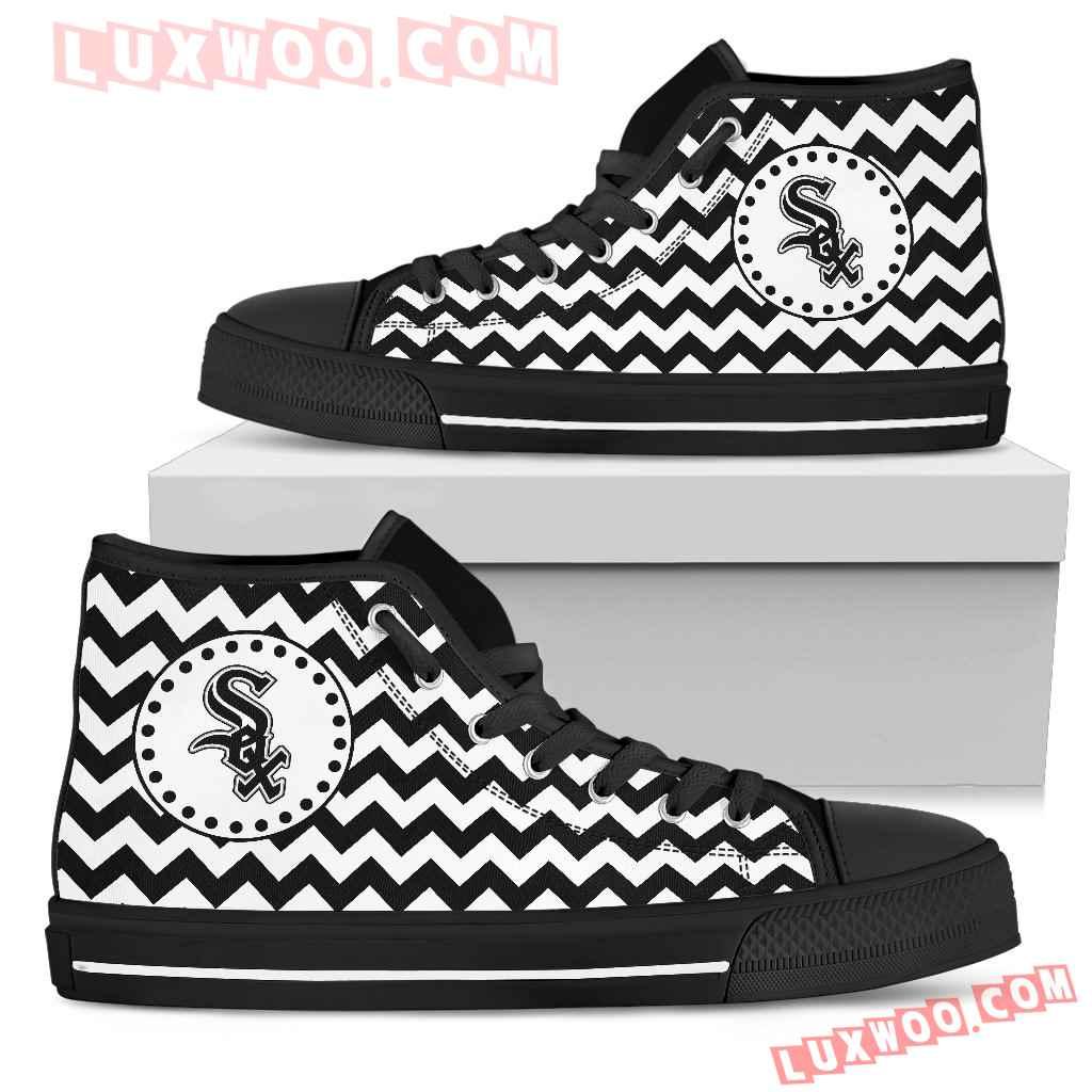 Chevron Broncos Chicago White Sox High Top Shoes