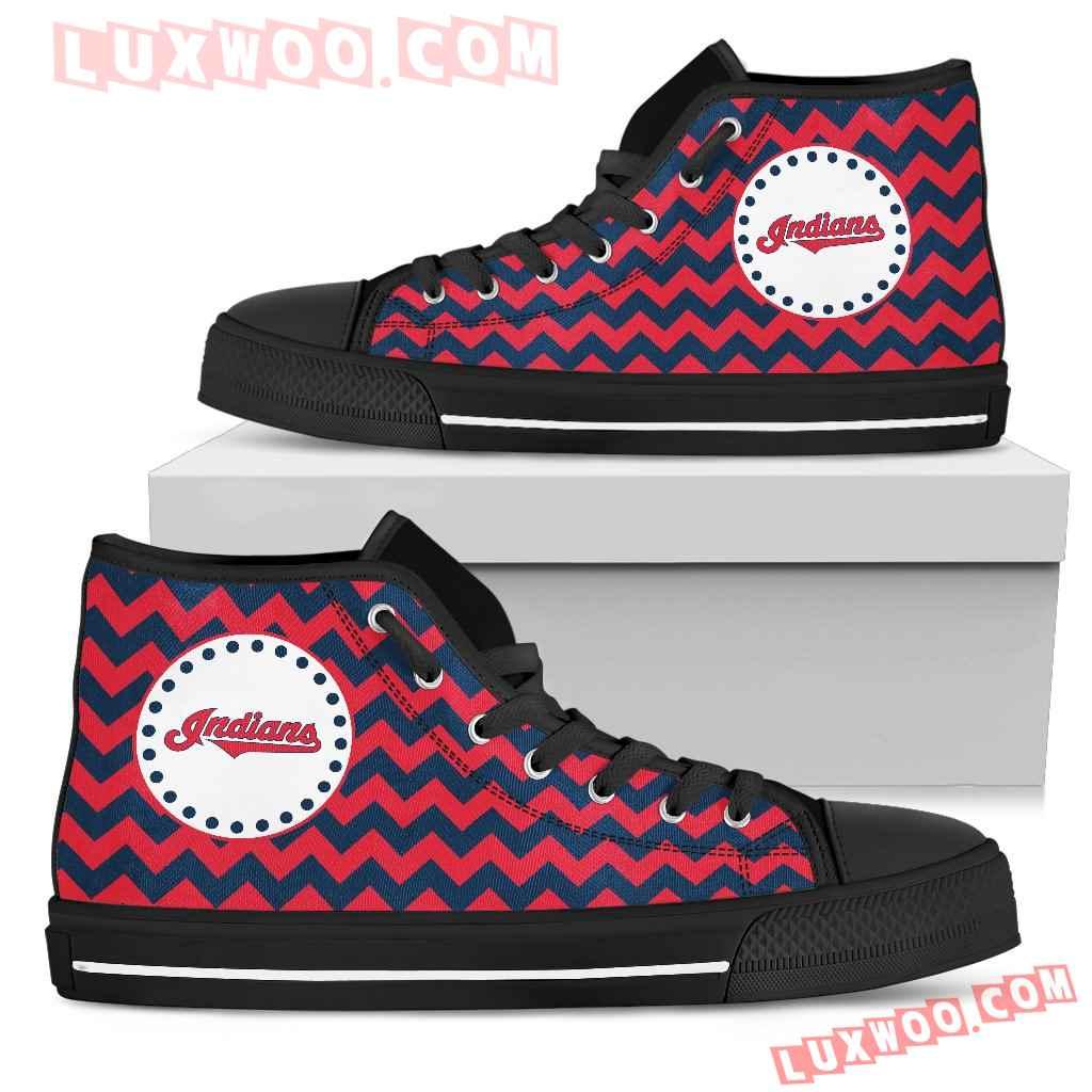 Chevron Broncos Cleveland Indians High Top Shoes