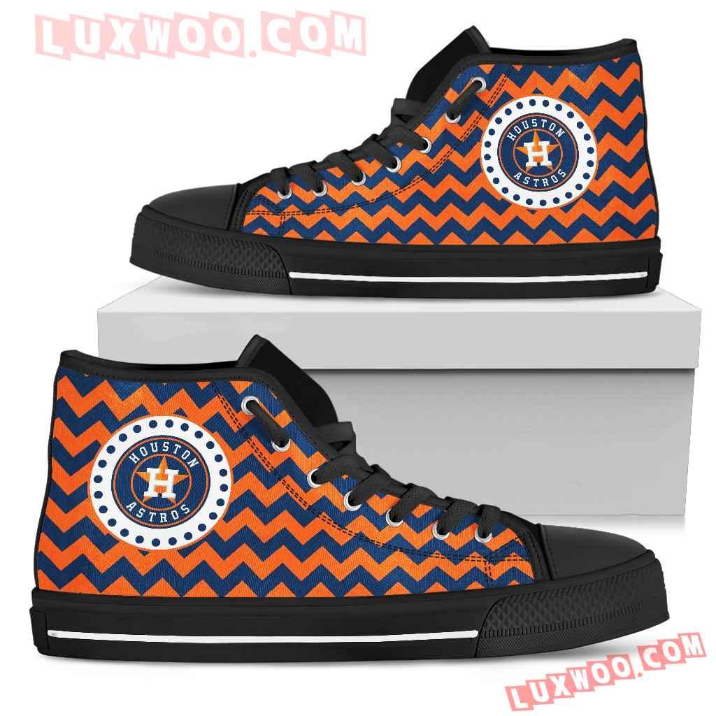 Chevron Broncos Houston Astros High Top Shoes