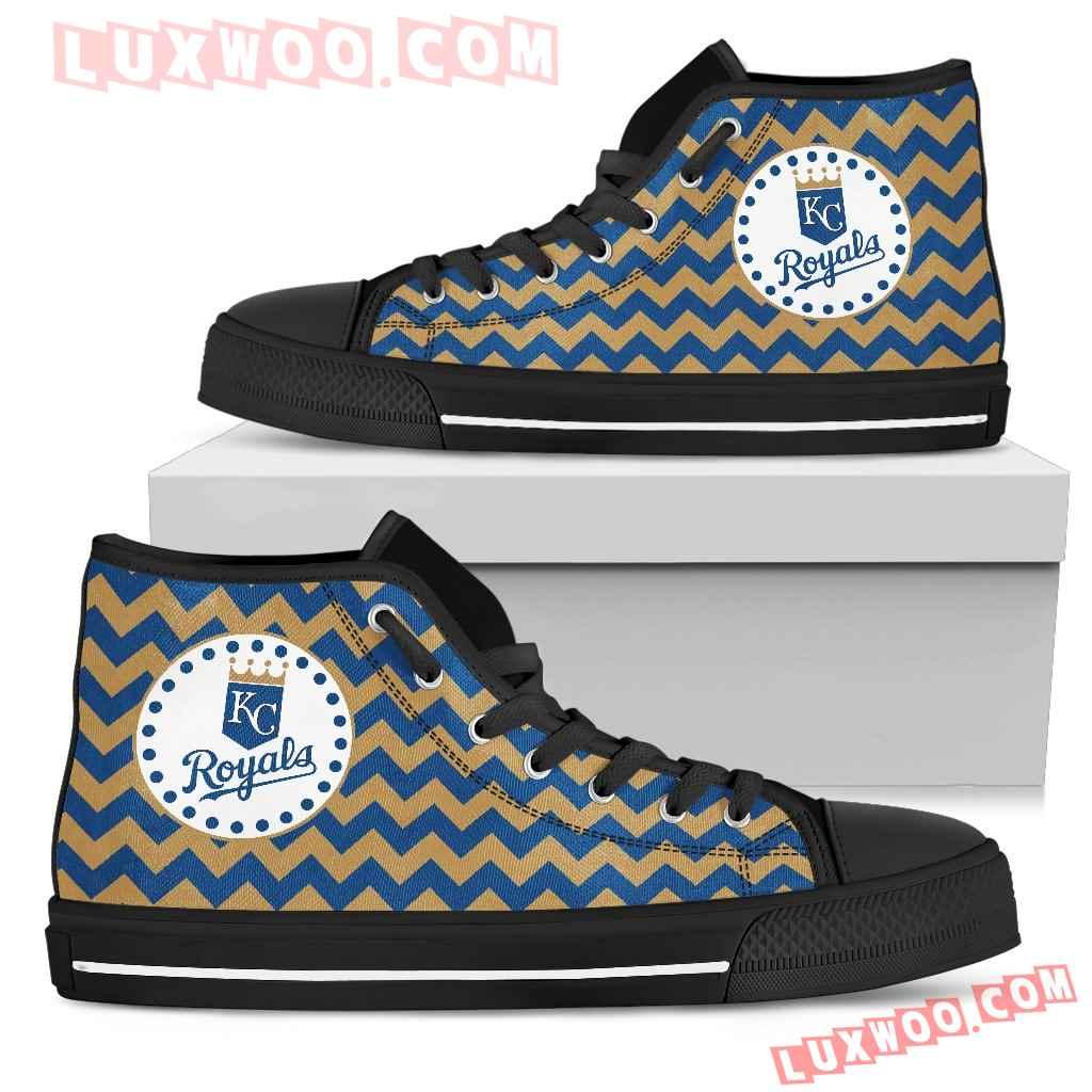 Chevron Broncos Kansas City Royals High Top Shoes
