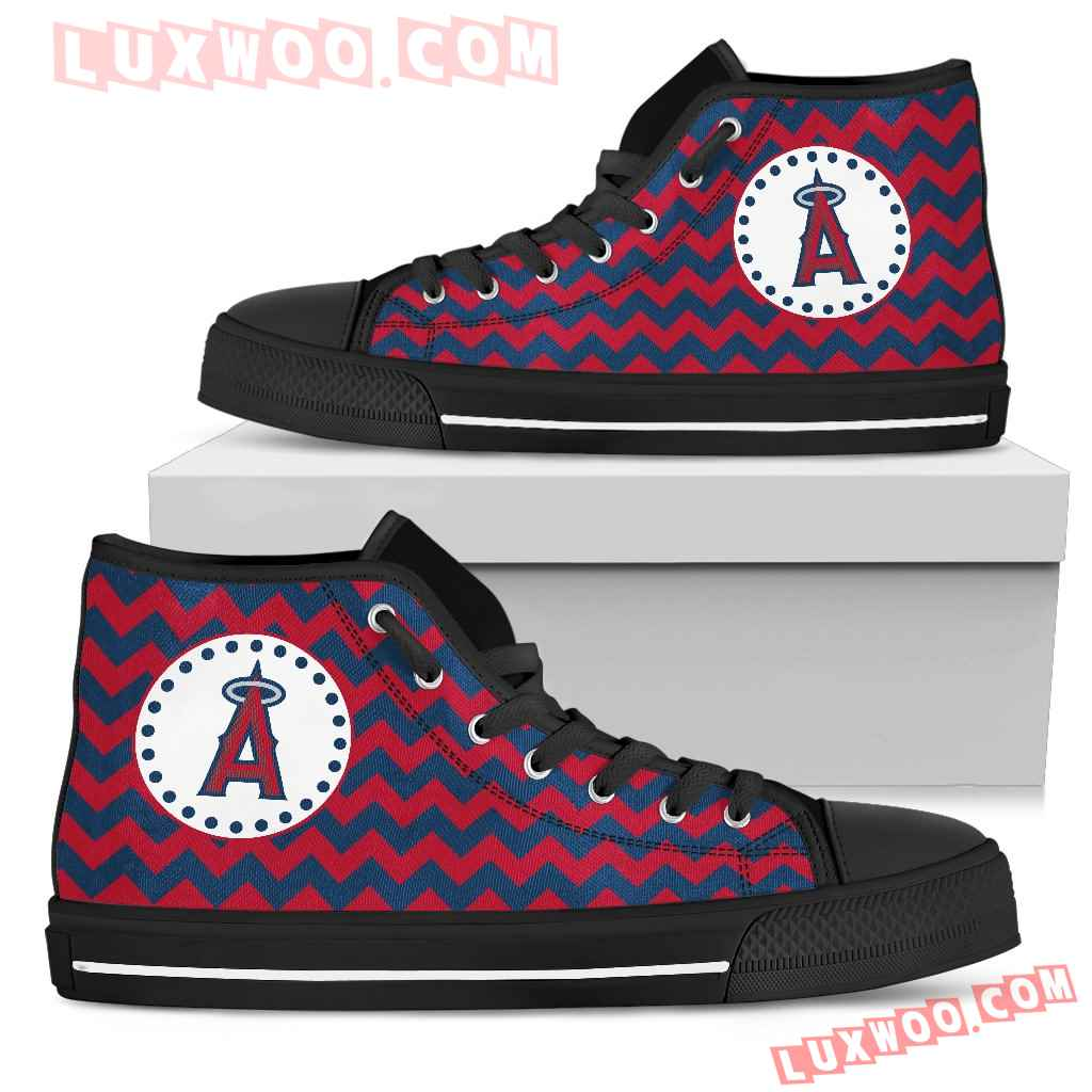 Chevron Broncos Los Angeles Angels High Top Shoes