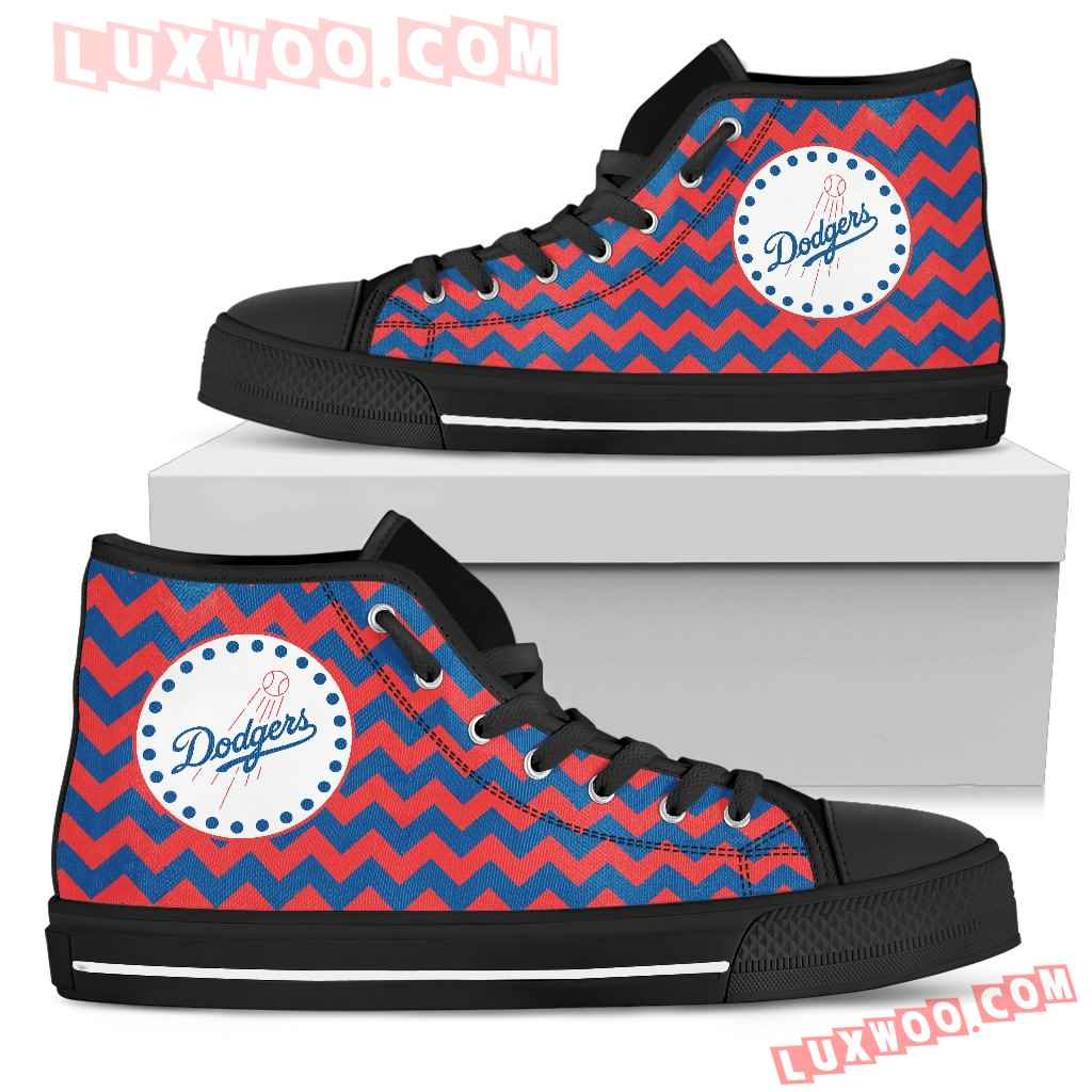 Chevron Broncos Los Angeles Dodgers High Top Shoes