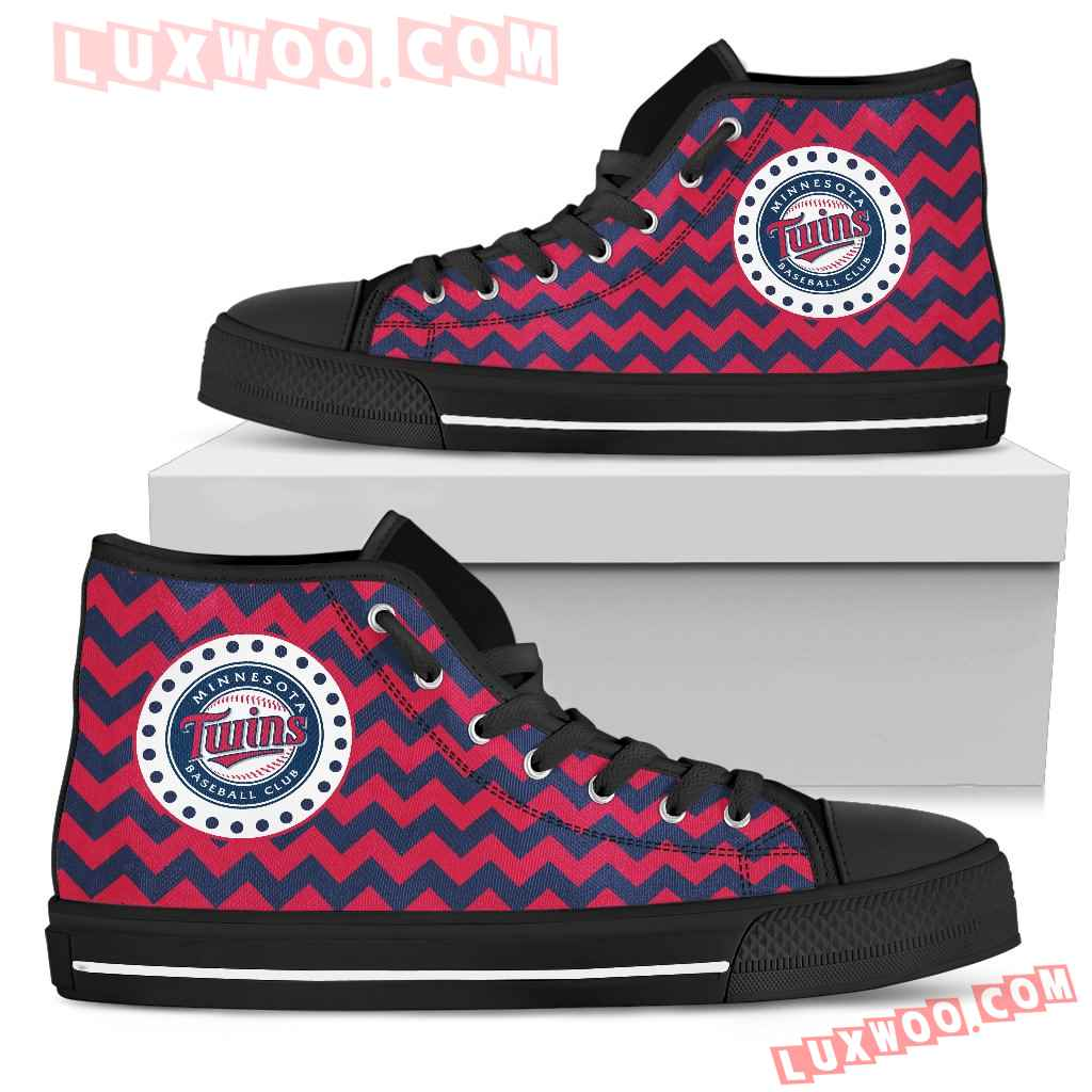 Chevron Broncos Minnesota Twins High Top Shoes