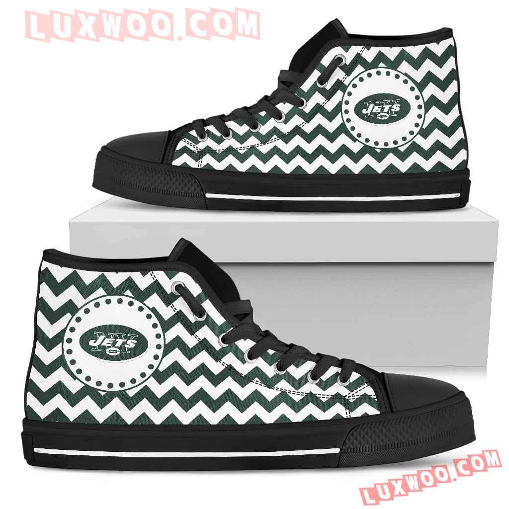 Chevron Broncos New York Jets High Top Shoes