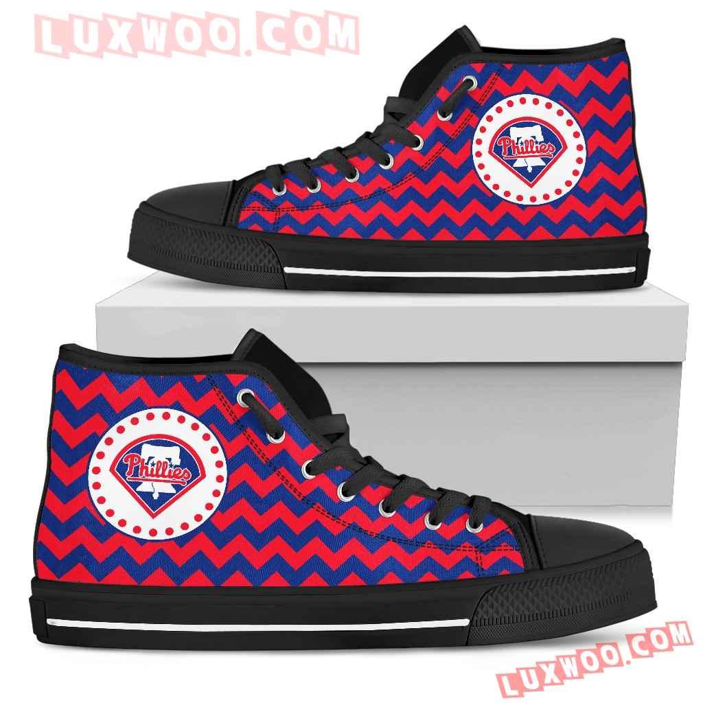 Chevron Broncos Philadelphia Phillies High Top Shoes