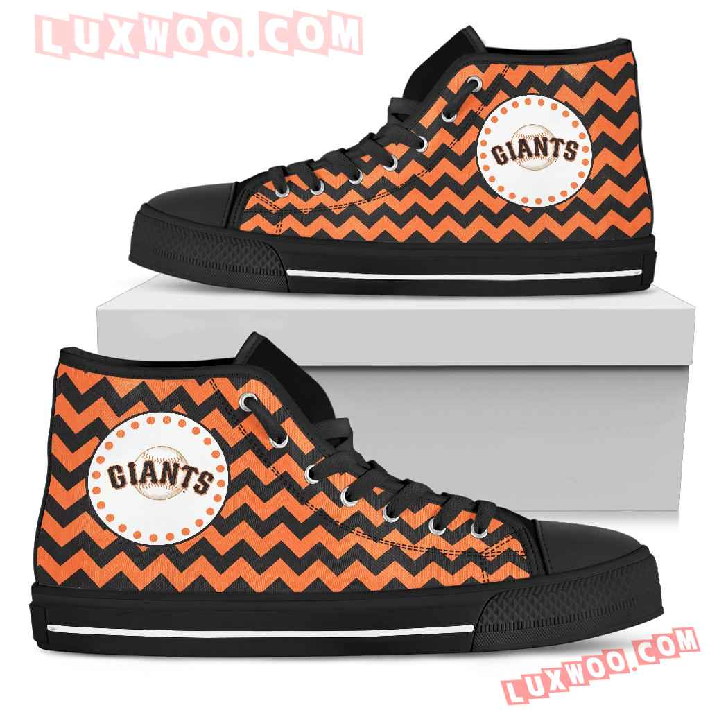 Chevron Broncos San Francisco Giants High Top Shoes