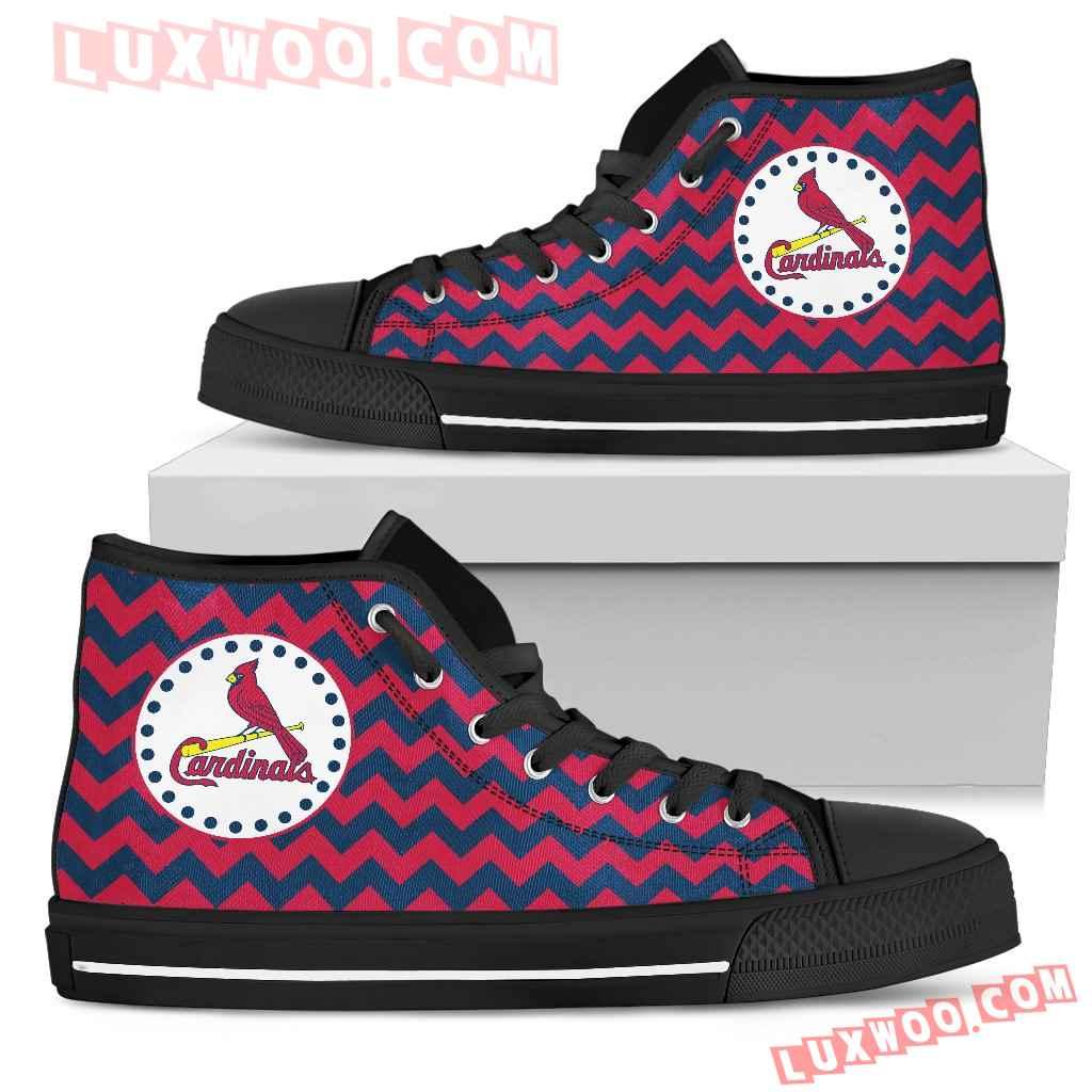 Chevron Broncos St Louis Cardinals High Top Shoes