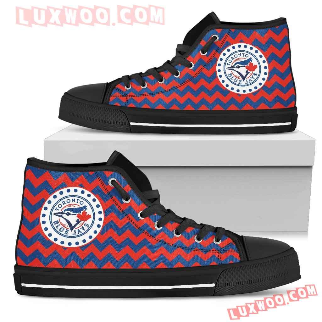 Chevron Broncos Toronto Blue Jays High Top Shoes