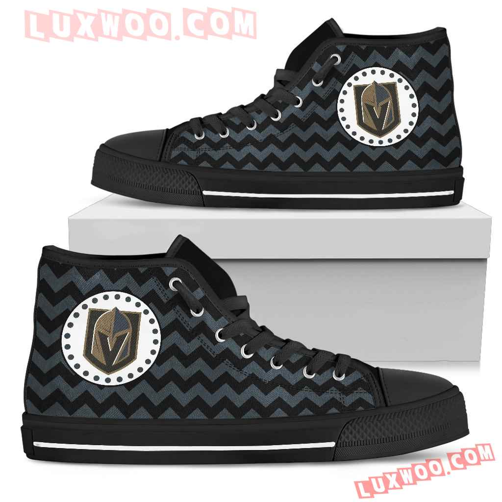 Chevron Broncos Vegas Golden Knights High Top Shoes