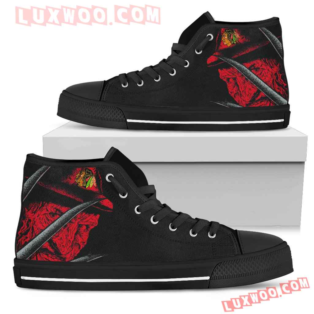 Chicago Blackhawks Nightmare Freddy Colorful High Top Shoes