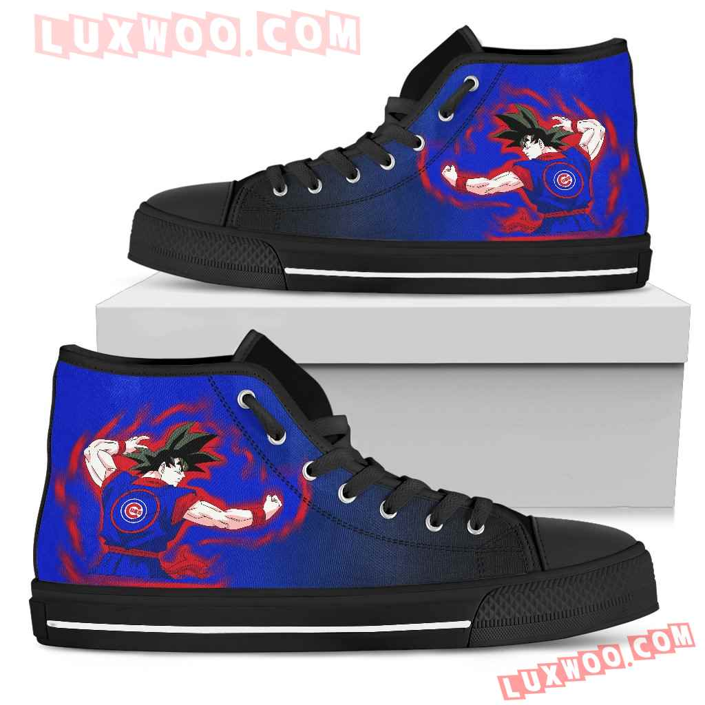 Chicago Cubs Goku Saiyan Power High Top Shoes