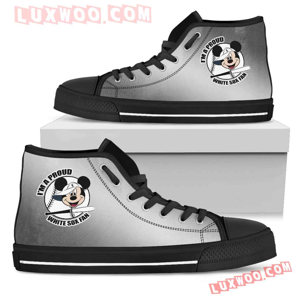 Chicago White Sox Fan Mickey Circle High Top Shoes
