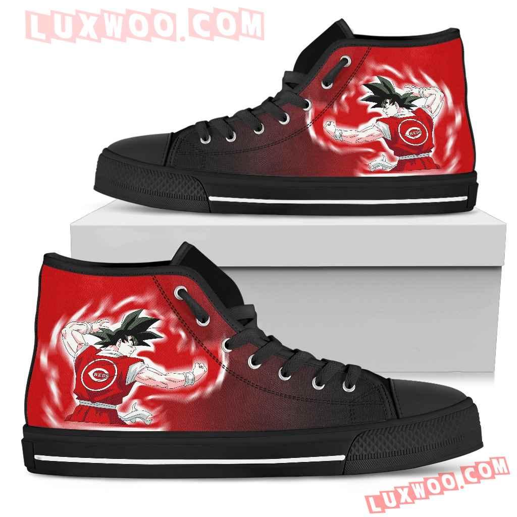 Cincinnati Reds Goku Saiyan Power High Top Shoes