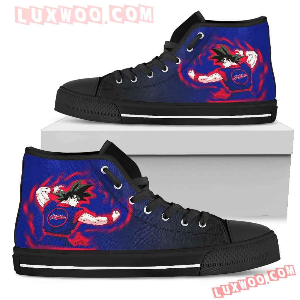 Cleveland Indians Goku Saiyan Power High Top Shoes
