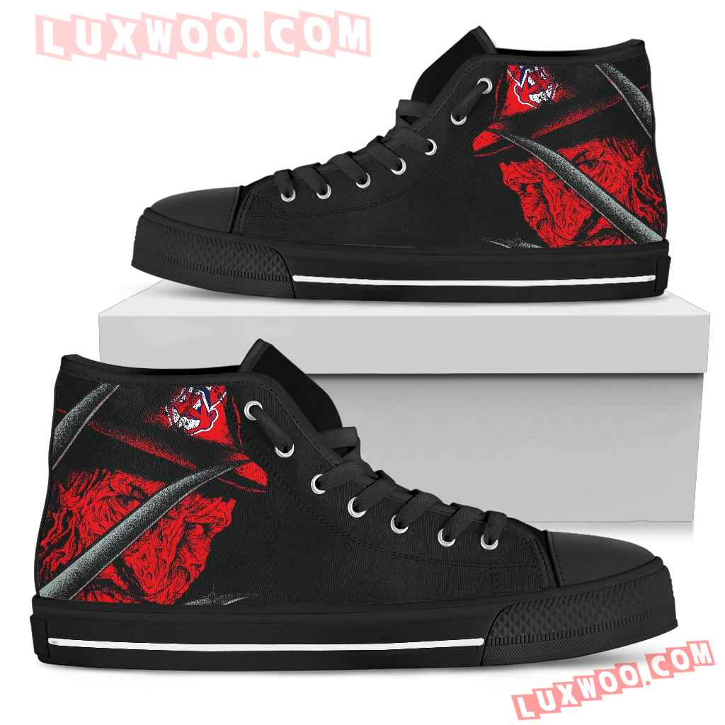 Cleveland Indians Nightmare Freddy Colorful High Top Shoes