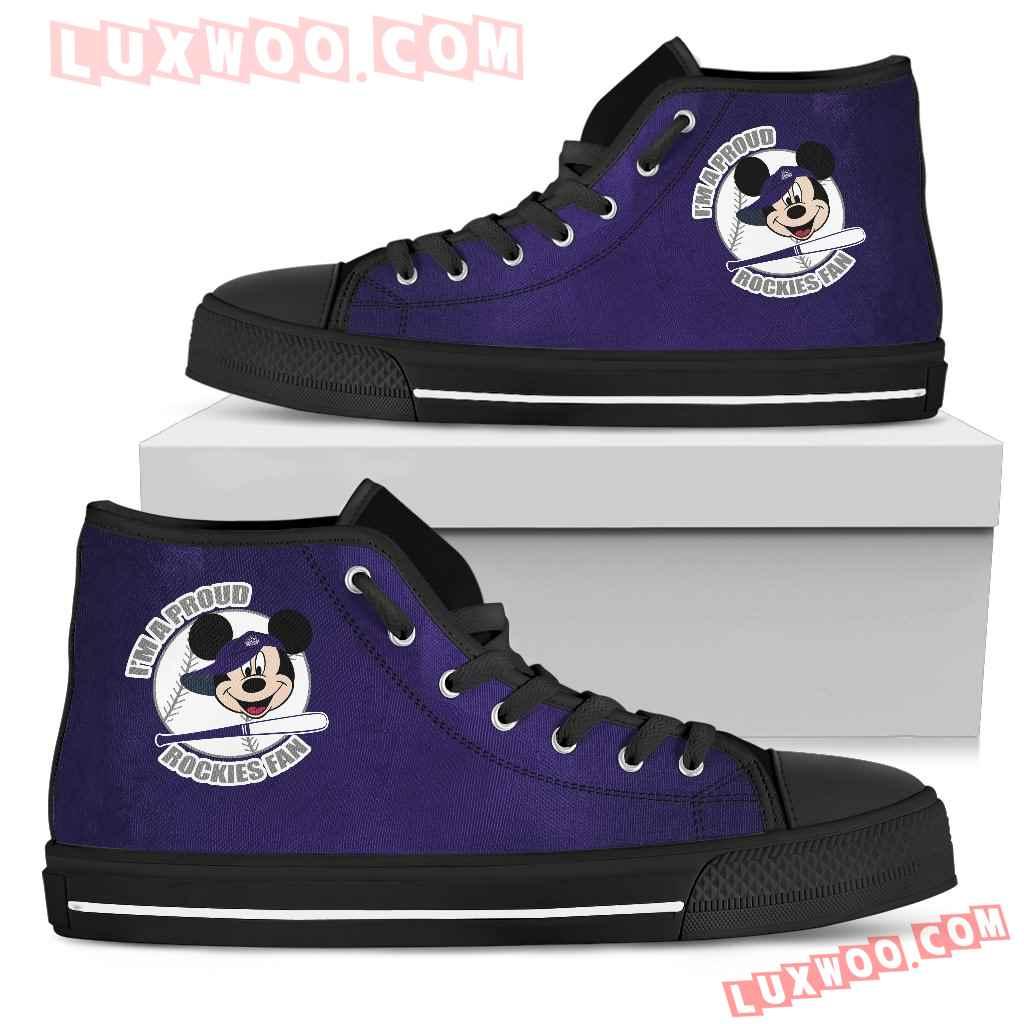 Colorado Rockies Fan Mickey Circle High Top Shoes