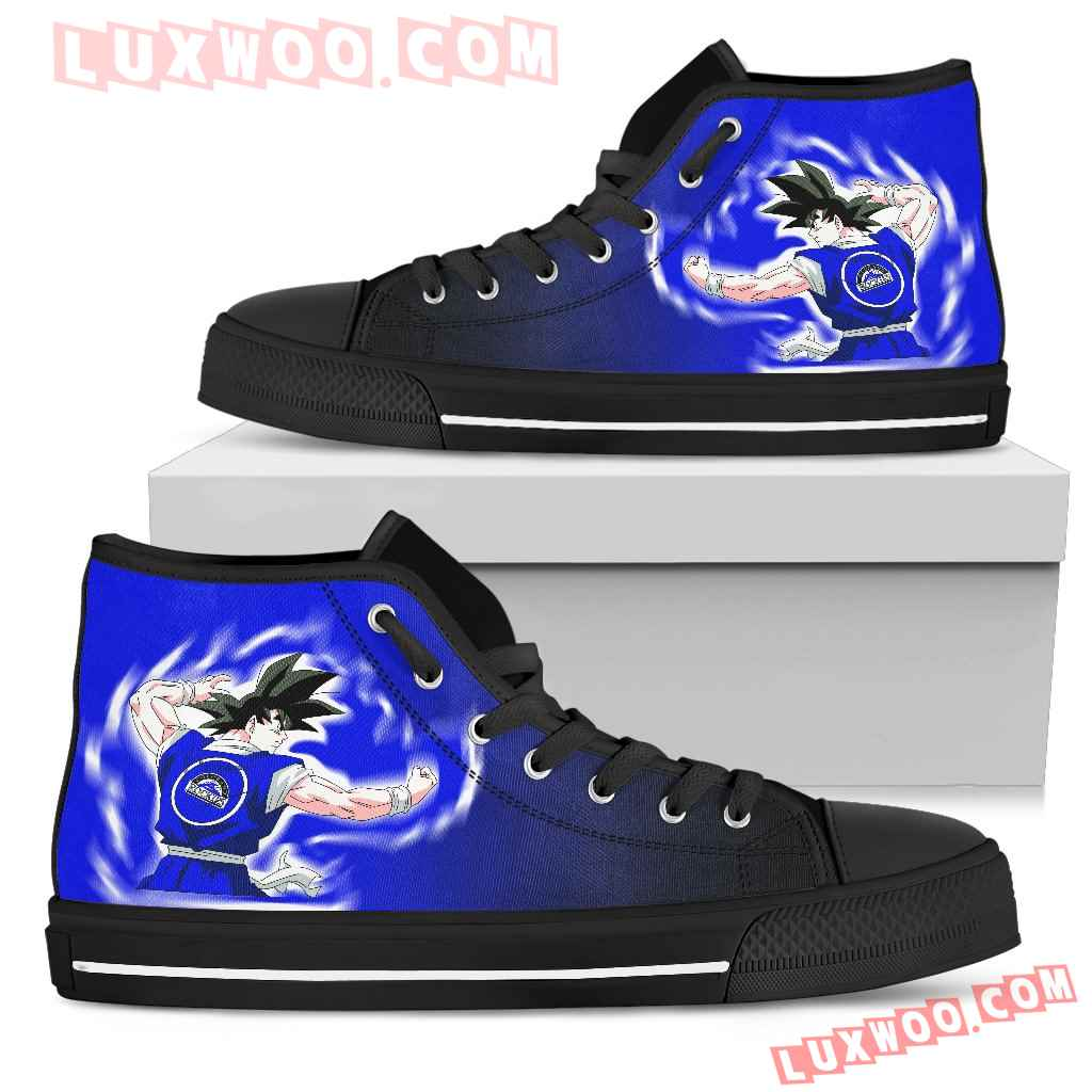 Colorado Rockies Goku Saiyan Power High Top Shoes