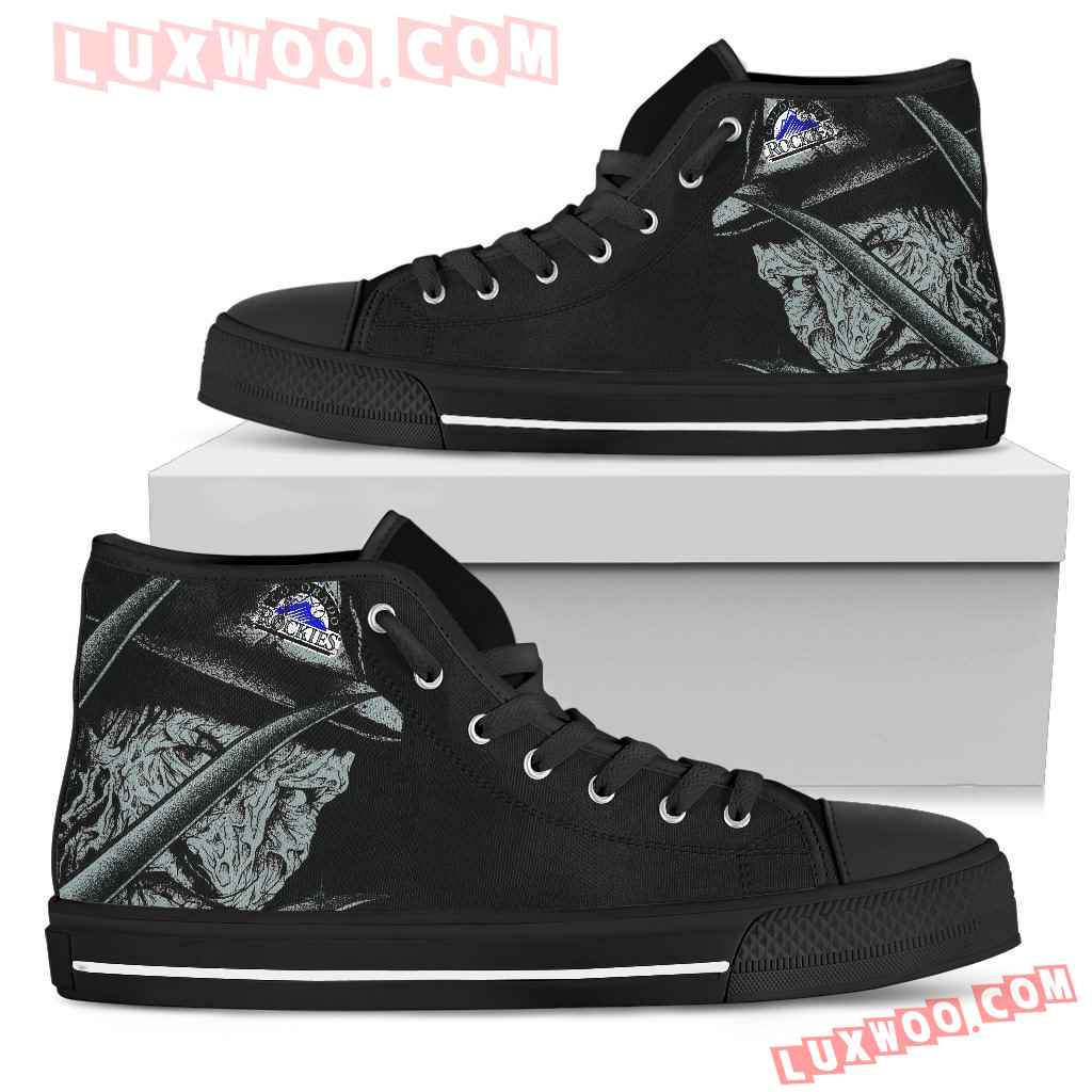 Colorado Rockies Nightmare Freddy Colorful High Top Shoes