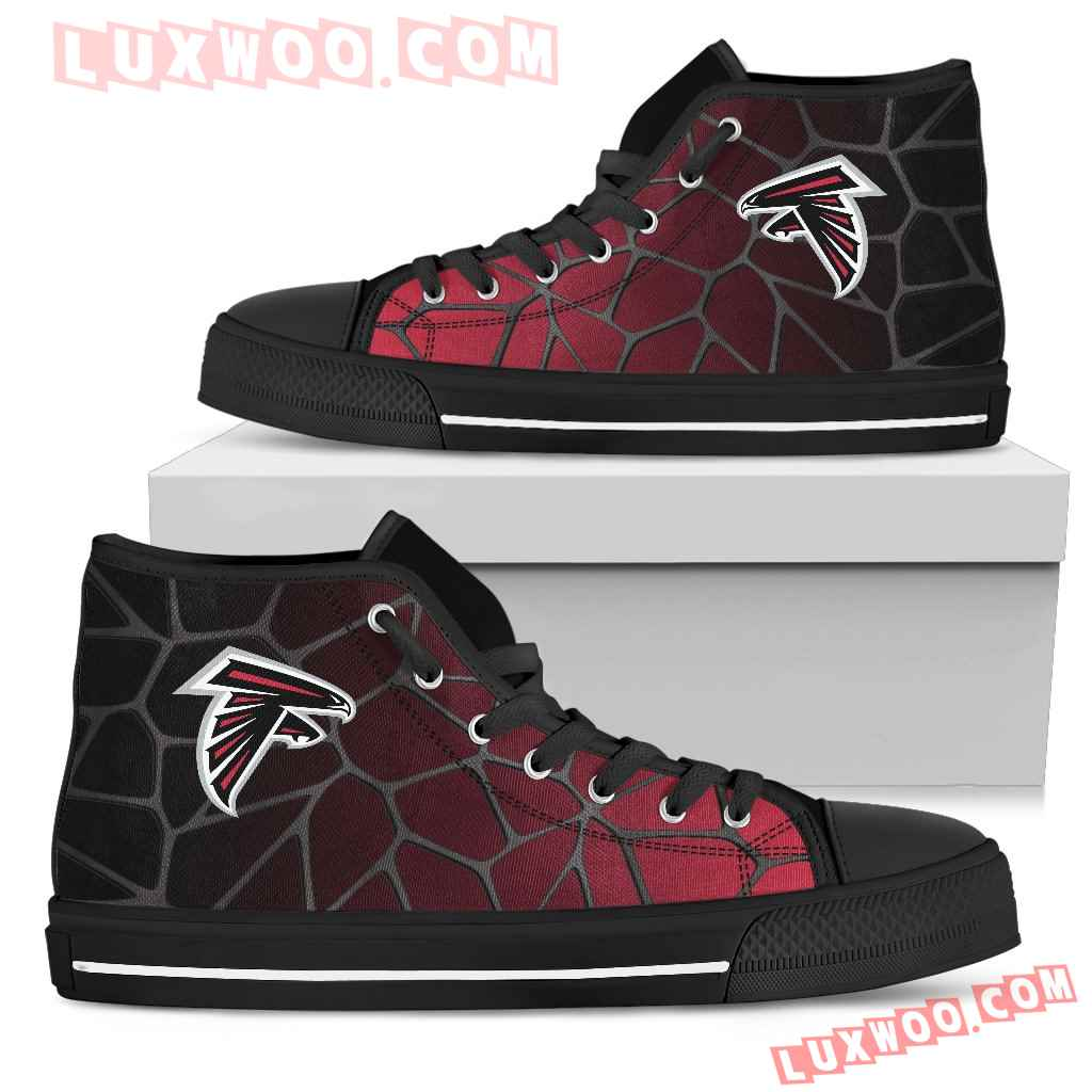 Colors Air Cushion Atlanta Falcons Gradient High Top Shoes