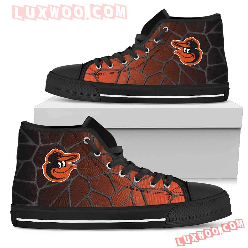 Colors Air Cushion Baltimore Orioles Gradient High Top Shoes