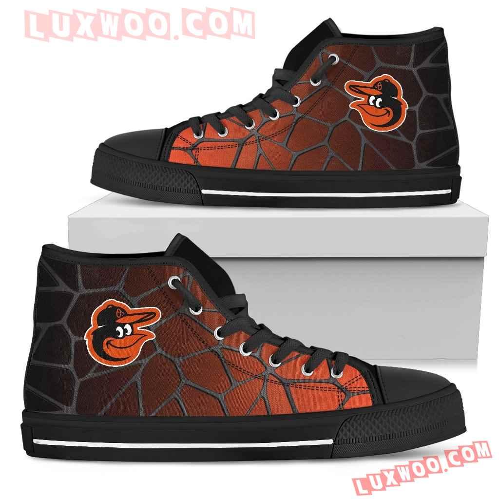 Colors Air Cushion Baltimore Orioles Gradient High Top Shoes