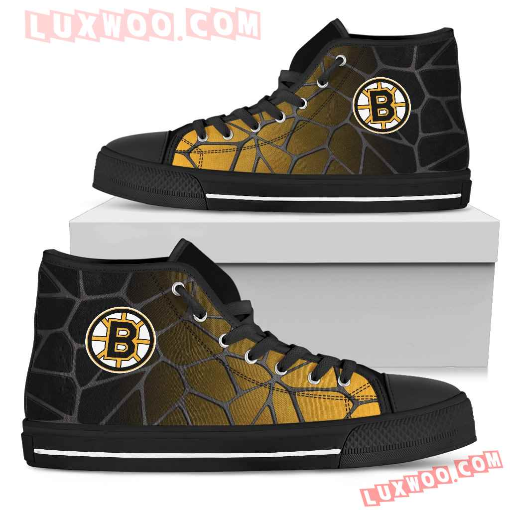 Colors Air Cushion Boston Bruins Gradient High Top Shoes