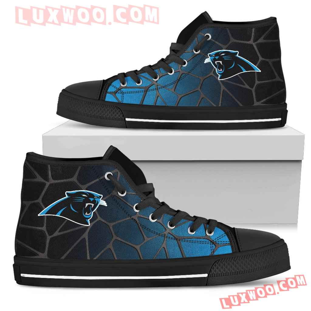 Colors Air Cushion Carolina Panthers Gradient High Top Shoes