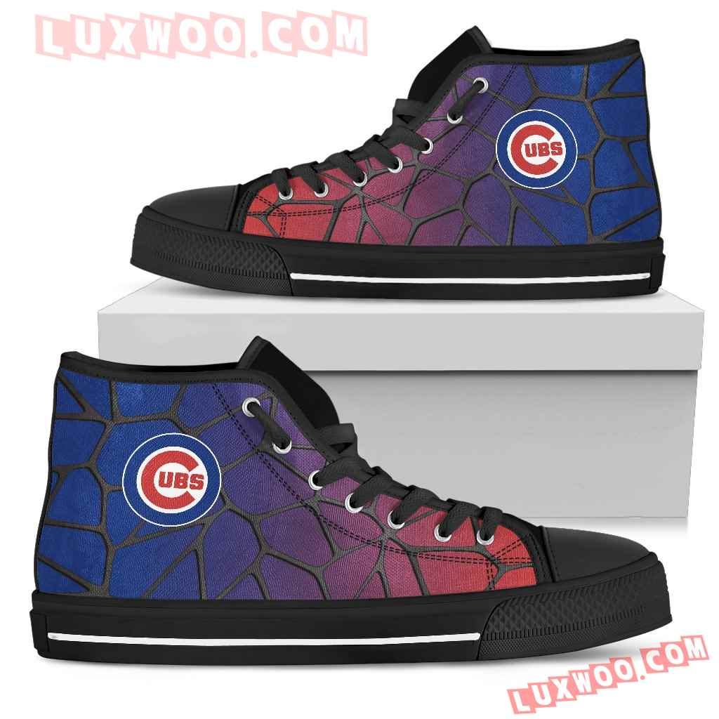 Colors Air Cushion Chicago Cubs Gradient High Top Shoes