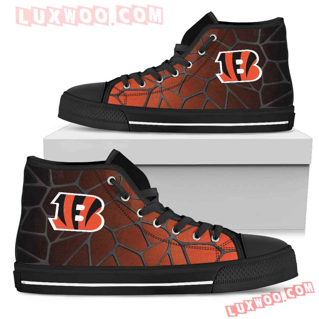 Colors Air Cushion Cincinnati Bengals Gradient High Top Shoes