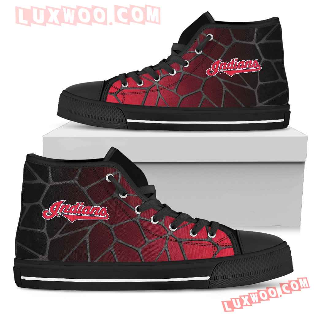 Colors Air Cushion Cleveland Indians Gradient High Top Shoes