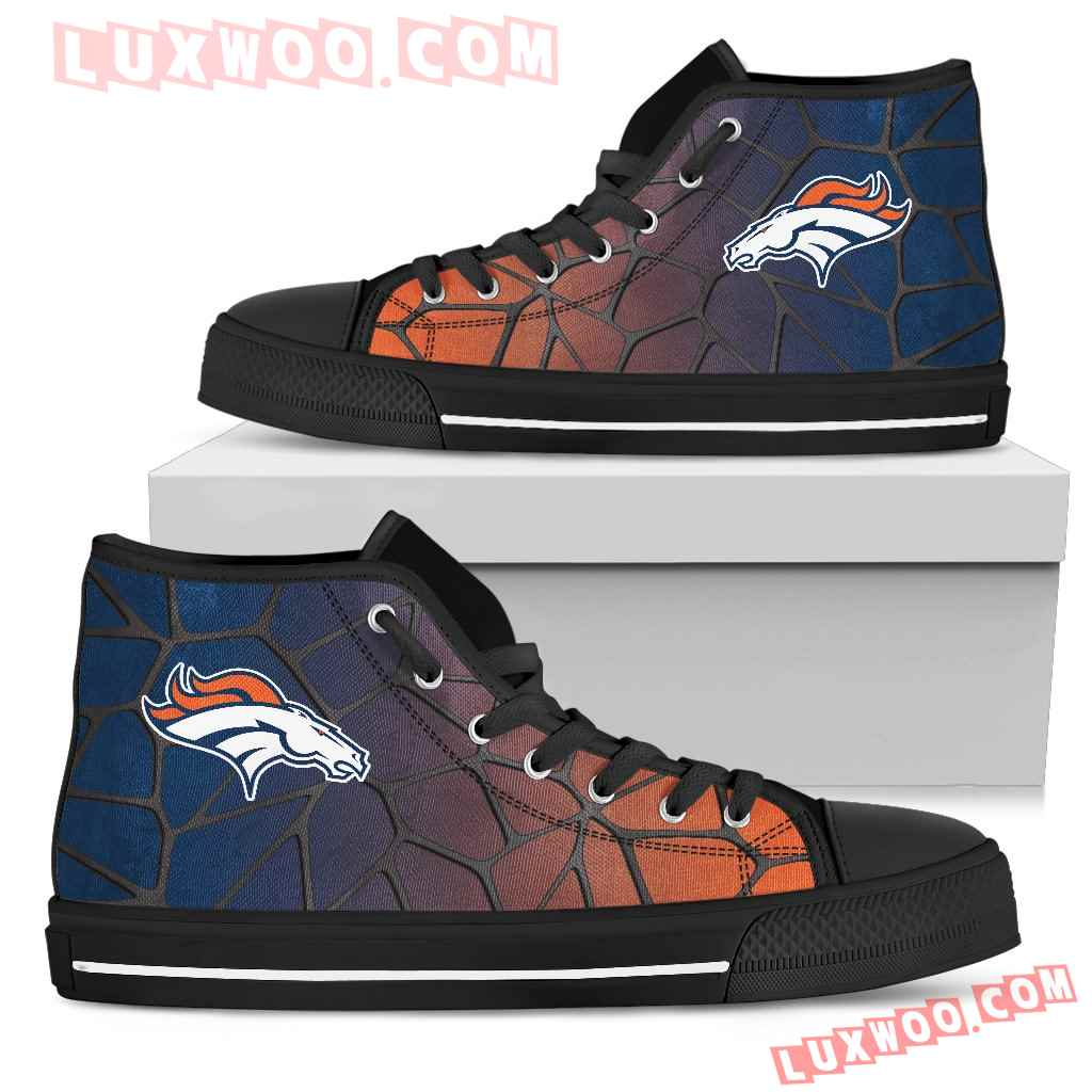 Colors Air Cushion Denver Broncos Gradient High Top Shoes