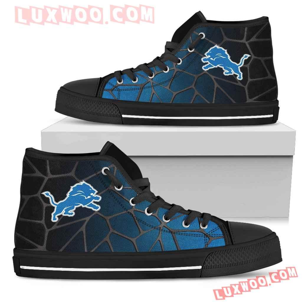 Colors Air Cushion Detroit Lions Gradient High Top Shoes