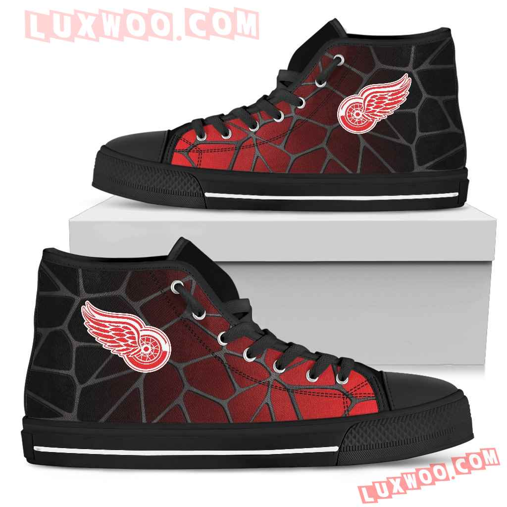 Colors Air Cushion Detroit Red Wings Gradient High Top Shoes