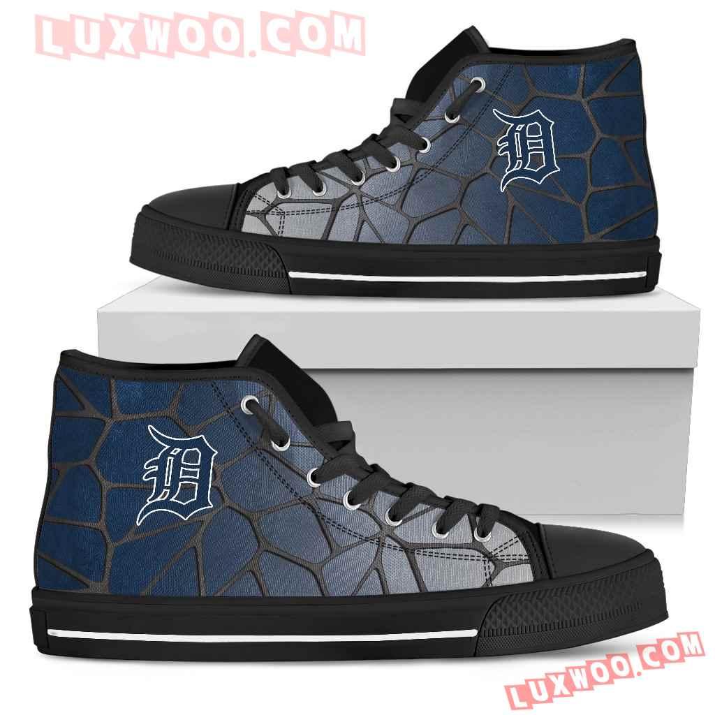 Colors Air Cushion Detroit Tigers Gradient High Top Shoes