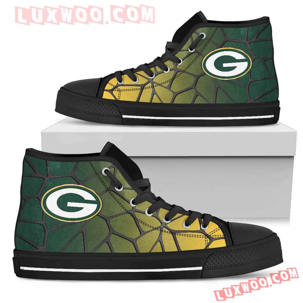 Colors Air Cushion Green Bay Packers Gradient High Top Shoes