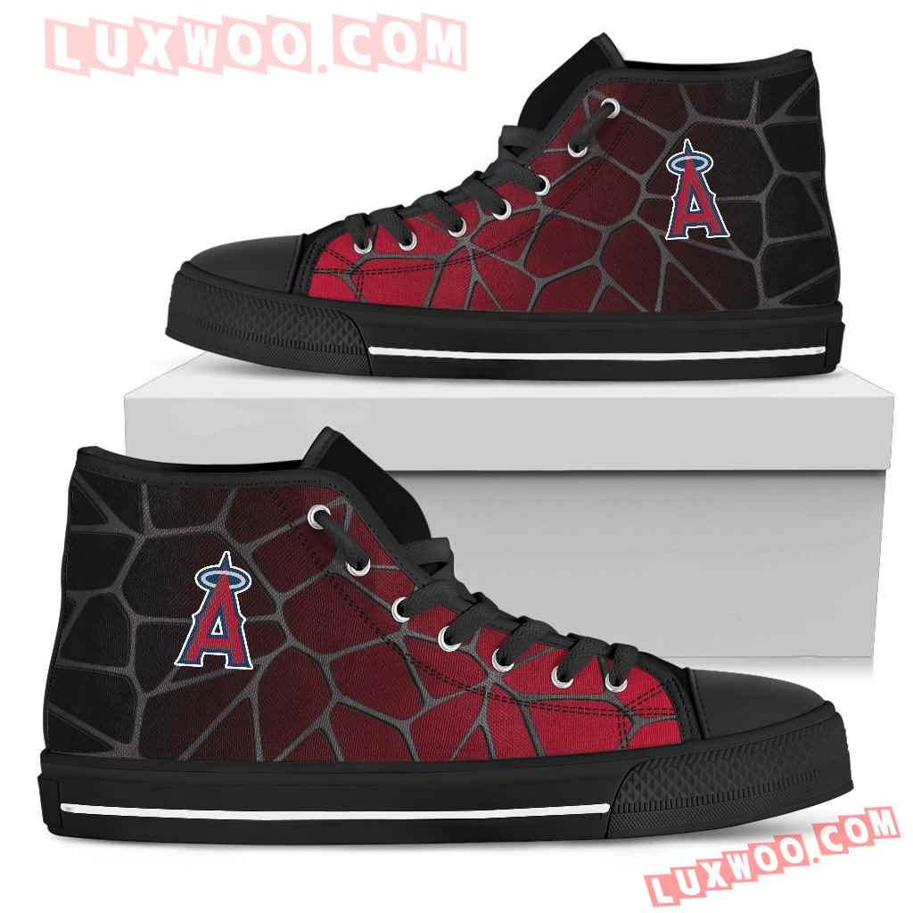 Colors Air Cushion Los Angeles Angels Gradient High Top Shoes