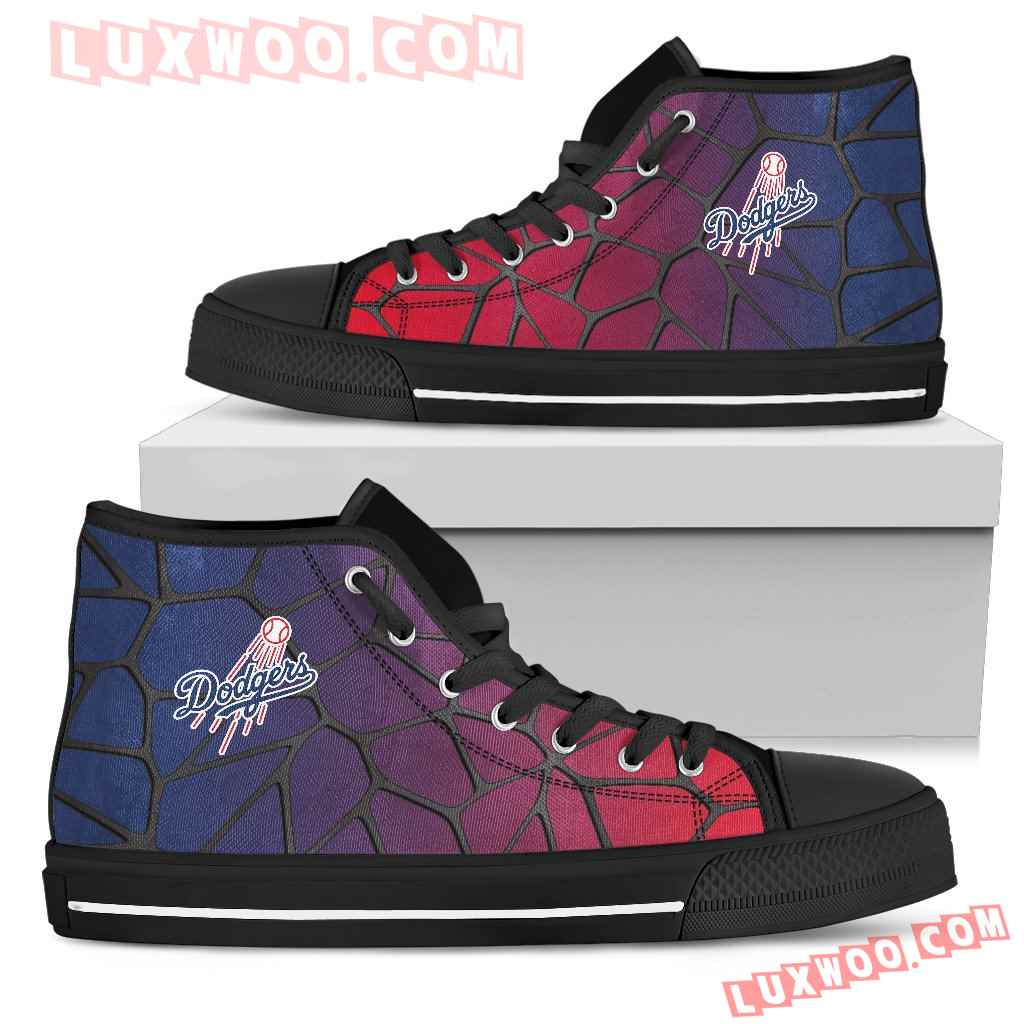 Colors Air Cushion Los Angeles Dodgers Gradient High Top Shoes