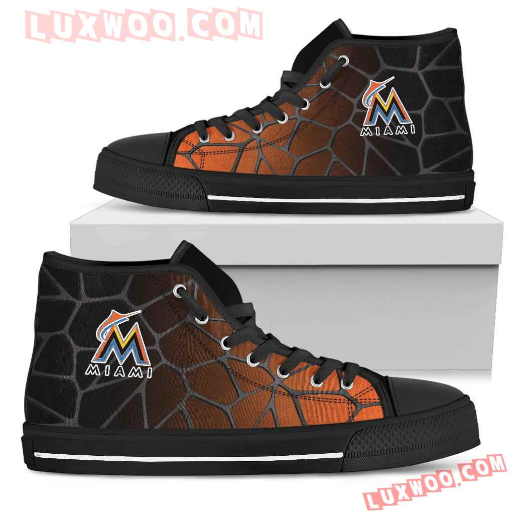 Colors Air Cushion Miami Marlins Gradient High Top Shoes