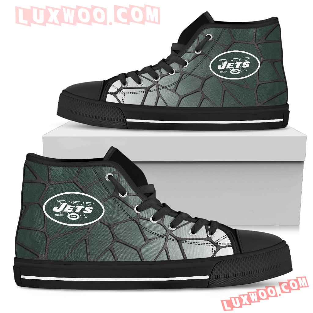 Colors Air Cushion New York Jets Gradient High Top Shoes