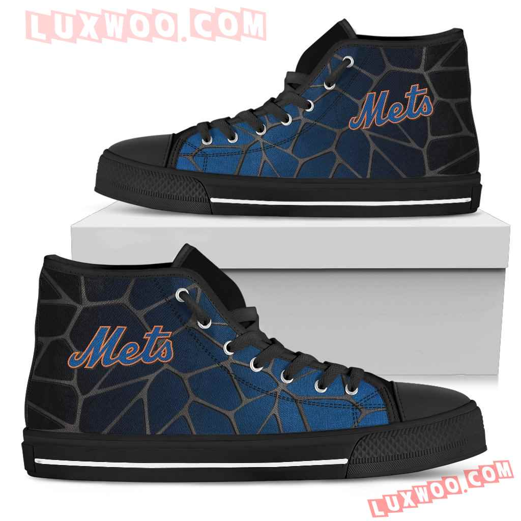 Colors Air Cushion New York Mets Gradient High Top Shoes