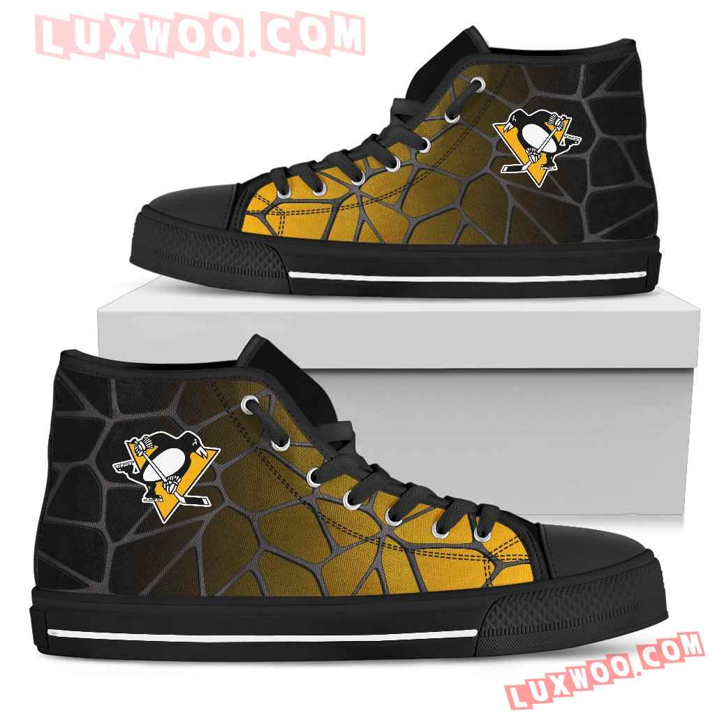 Colors Air Cushion Pittsburgh Penguins Gradient High Top Shoes