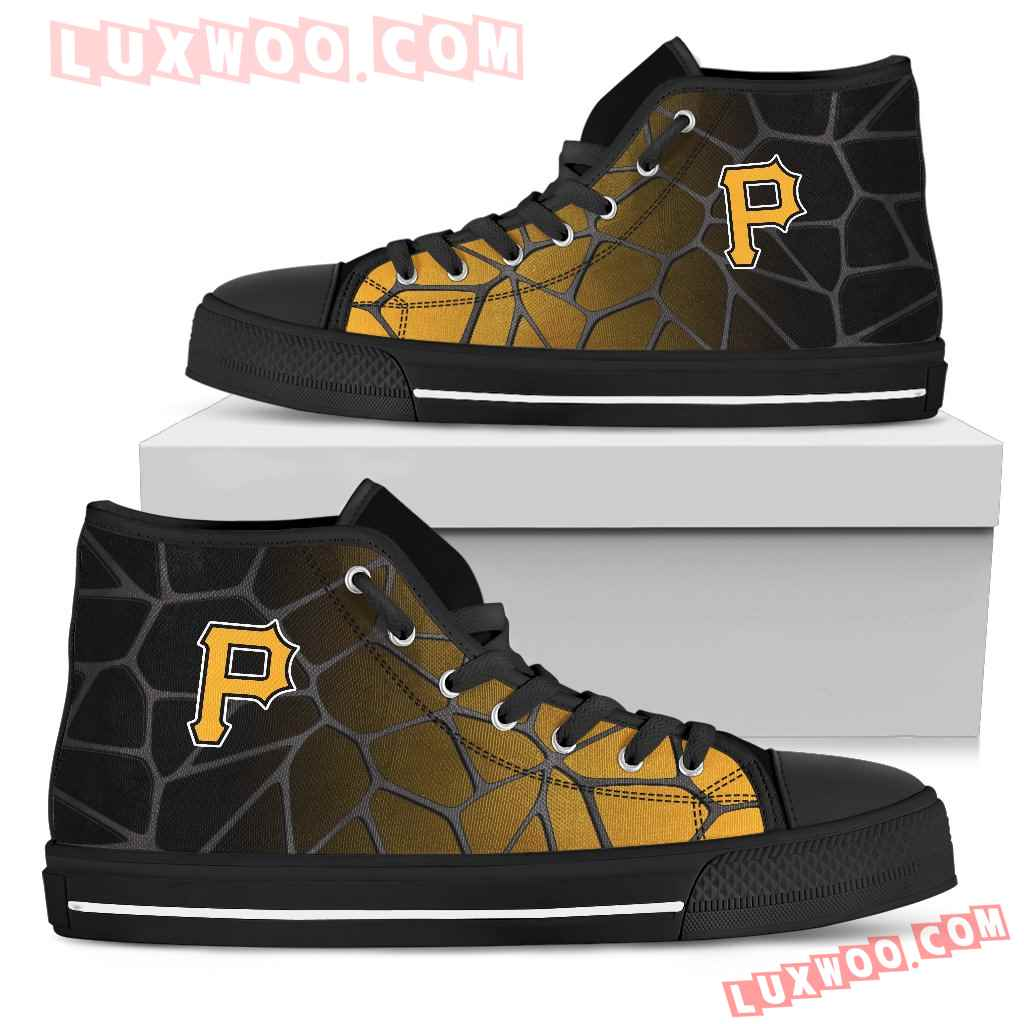 Colors Air Cushion Pittsburgh Pirates Gradient High Top Shoes